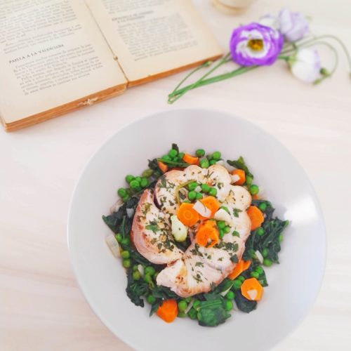 Cod with Green Peas